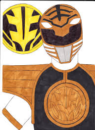 mighty morphin u0027 power rangers 07 white ver 1 by septimusparker on