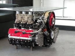 porsche 911 engine parts flat six coffee table cave coffee cave