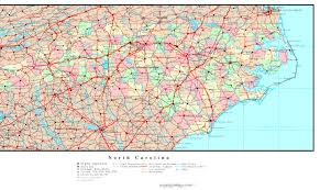 Road Map Virginia by North Carolina Political Map