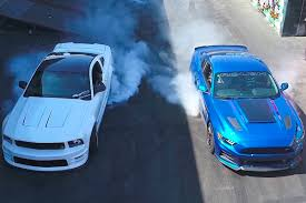 hoonigan mustang interior video supercharged s197 vs s550 burnout battle