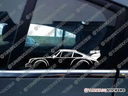 porsche 964 rwb 2x classic car silhouette sticker porsche 911 turbo 964 rwb style