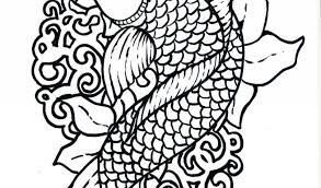 japanese koi coloring pages download print free