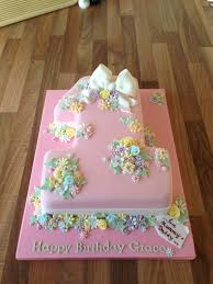 number 1 first birthday cake the rosebud cake company flickr