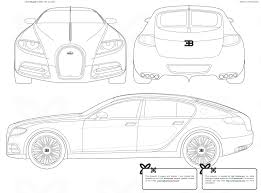 bugatti galibier 2009 bugatti galibier 16c hatchback blueprints free outlines