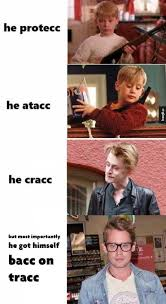 Macaulay Culkin Memes - macaulay culkin he protec but he also attac know your meme