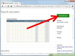 Payroll Spreadsheet Template Excel by How To Prepare Payroll In Excel 5 Steps With Pictures Wikihow