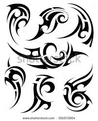 tribal art tattoo set stock vector 418483600 shutterstock