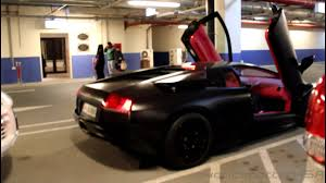 Lamborghini Murcielago Matte Black - matte black lamborghini murciélago lp640 start up qatar 1080p hd