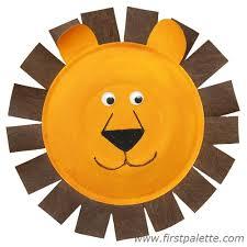 lion mask craft paper plate animals craft kids crafts firstpalette