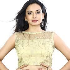 golden blouse biyu golden brocade tissue with ariwork boat neck saree blouse at