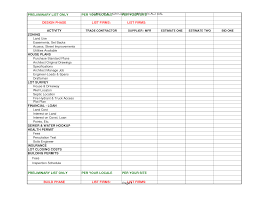 Budget Excel Spreadsheets by Design Build Budget Excel Spreadsheet Owner Builder Services