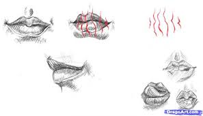 13 how to draw realistic lips sketch lips