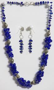 blue stone necklace earrings images Dark blue stone necklace and earrings jpg