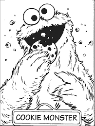 sesame street coloring pages cookie monster christmas coloringstar