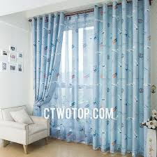 Baby Blue Curtains Baby Blue Sky Plane Boys Bedroom Patterned Funky Curtains