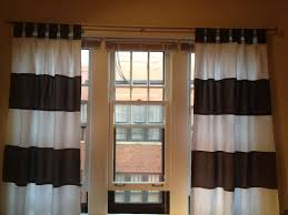 Yellow Brown Curtains Ideas U0026 Tips Horizontal Striped Curtains In Black And White With