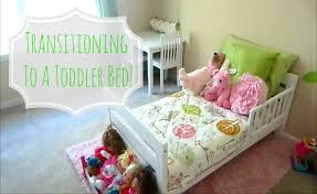 when to convert crib into toddler bed transitioning to a toddler bed youtube