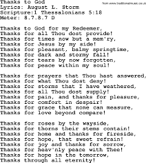 hymns thanks to god lyrics sheetmusic midi mp3