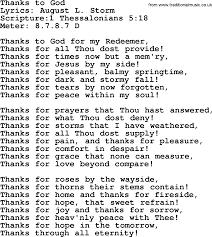 hymns thanks to god lyrics sheetmusic midi mp3