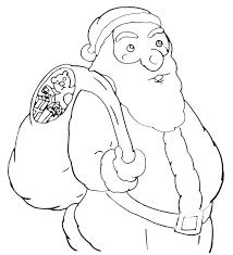 free printable christmas tree and santa coloring pages kids