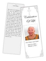 funeral program paper funeral program templates memorial bookmark grey ornate cross