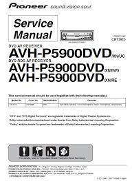 схема pioneer avh p5000dvd