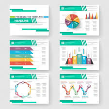 Set Of Presentation Slide Templates Powerpoint And Business Vector Slide Templates