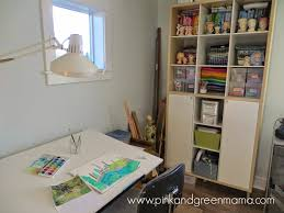 Art Studio Desk by Pink And Green Mama New Art Studio Tour