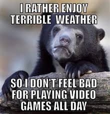 Rainy Day Meme - my view on rainy days meme guy
