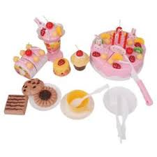 playpink cuisine set of 75 birthday cake set pretend toys cutting cake food play