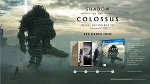 of the shadow of the colossus collector s edition revealed the upcoming