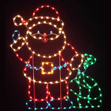 Animated Outdoor Christmas Decorations by Outdoor Santas Fiberglass Christmasnightinc Com