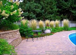 pool patio renovation massed ornamental grasses minnesota