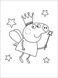 peppa 5 pig coloring pages cakes