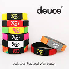 fashion bracelet silicone images Newest charm bracelet bangles deuce bracelet wristbands premium jpg