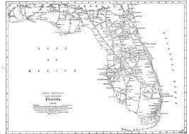 Map Of Florida With Cities P Fmsig 1948 U S Railroad Atlas