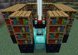 Minecraft Enchanting Table Bookshelves Magic Enchantment Table Broncin