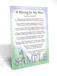blessing baby a baby niece s blessing frame able keepsake purplewishinggate