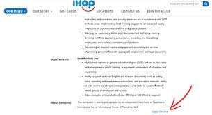 ihop job application apply online