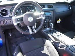 mustang v6 interior impact blue 2014 ford mustang coupe mustangattitude com