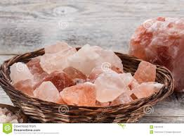 himalayan salt l basket himalayan pink salt stock image image of heap rock 34210155