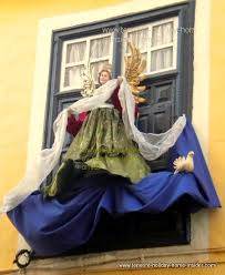 Christmas Angel Window Decorations by Outside Christmas Decorations Tenerife Pictures