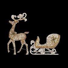 lighted reindeer yard lighted reindeer ebay