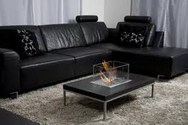 formal black leather l shaped sectional sofa for cute living room
