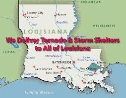 louisiana map areas tornado shelters for sale in louisiana