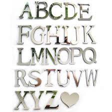 diy wedding love letters home decoration english letters mirror