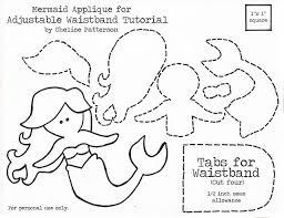 9 images cute printable mermaid templates flounder