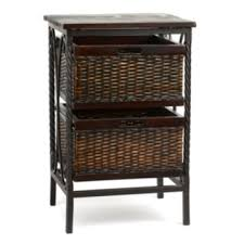 Wicker Accent Table Espresso Wicker Basket Accent Table Kirklands