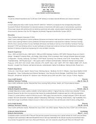 Resume Sample Network Engineer by Ccna Resume Examples Free Resume Example And Writing Download