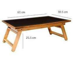 Wooden Folding Bed Wooden Black Foldable Overbed Table Breakfast Serving Tray